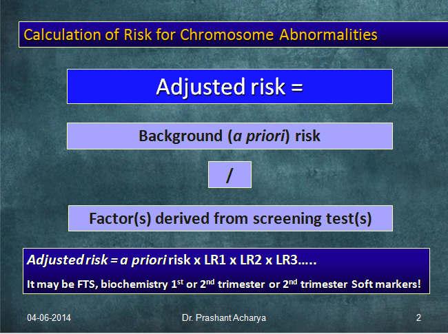 2nd Trimester Softmarkers And Risk Calculation For Trisomy 21 Paras